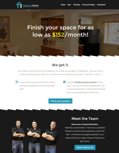 Screenshot of finishyourspace.com